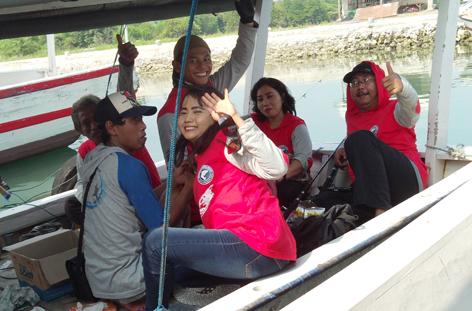 Lady angler di Kapal 2
