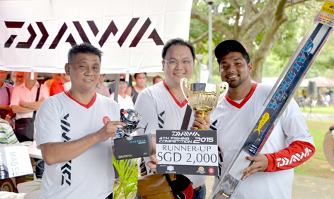 1st Runner Up, Lee-Kok Yew, 7.18 kg Sea Bass