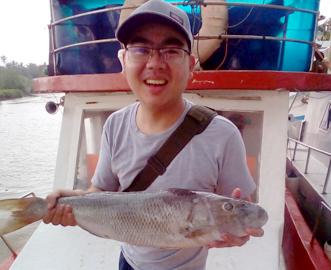 Sreven dengna ikan tangkapan