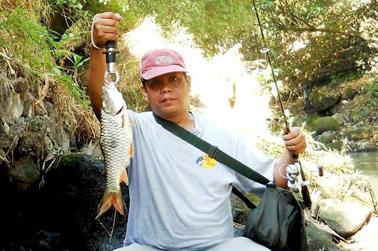 Ikan hampala, casting dengan pencil, spot sungai tengah kota jogja