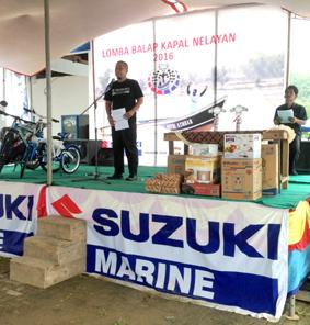 Perwakilan Suzuki Marine Memberikan Sambutan
