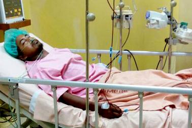 Nasihin dalam perawatan di rumah sakit
