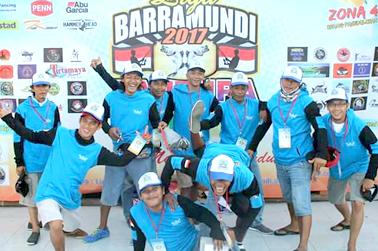 "Anggota ""ED-MAN di acara Liga Baramundi 2017"