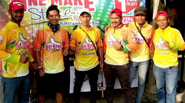 Tim Djempol Lovers Jambi mengikuti event mancing di Jakarta