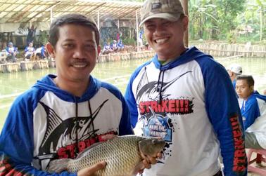 Ikan induk yang berfasil dipancing peserta
