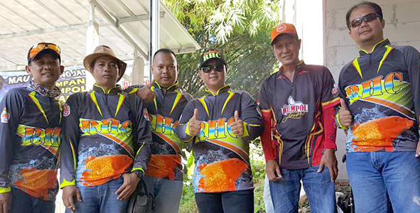 Para komunitas mancing hadir ikut menyemarakkan ulang tahun Bambon